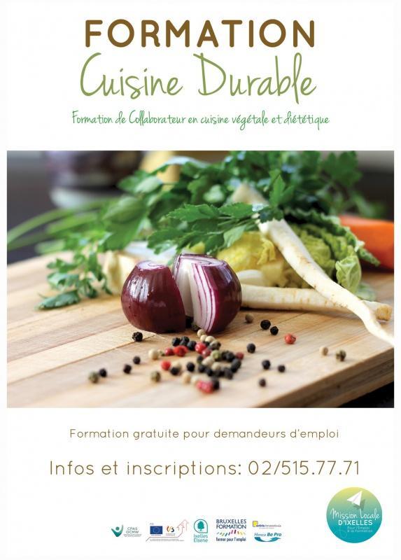 Affiche de la formation en cuisine durable: collaborateur en cuisine végétale et diététique
