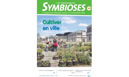 """couverture du magazine Symbioses n°103 """"Cultiver en ville"""""""